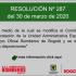 RESOLUCIÓN Nº 287  DEL 30 DE MARZO DE 2020