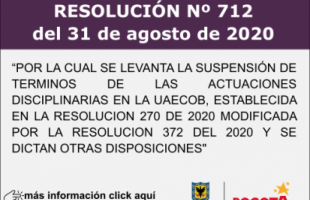 RESOLUCIÓN No. 712 del 31 de agosto de 2020