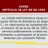Aviso - Articulo 30 Ley 80 de 1993
