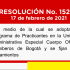 Resolución No. 152 DE 2021