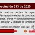 Resolución 313 de 2020